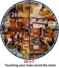 Round the clock 24 x 7